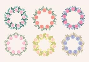 Vector Rose Wreaths Collection