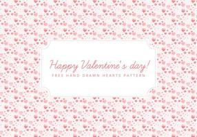 Vector Tiny Hearts Alla hjärtans dag bakgrund