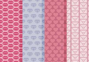 Vector Simple Valentine's Day Patterns