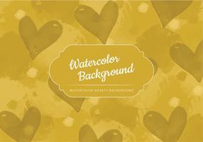 Aquarelle vectorielle Fond jaune