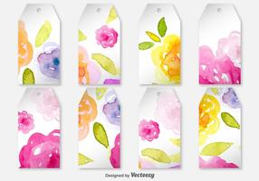 Blank Spring Decorated Labels - Etiquetas de vetores com flores