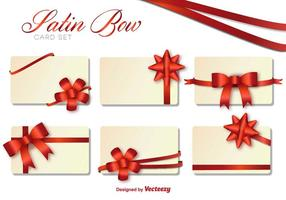Vector Set Of Christmas Cards With Bows