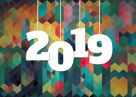 Colorful Background For 2019 New Year Celebration vector