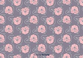 Hand Drawn Camellia Pattern vector