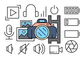 Free Photography Icons vector