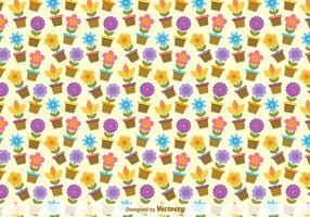 Blumenkübel Vektor-Muster