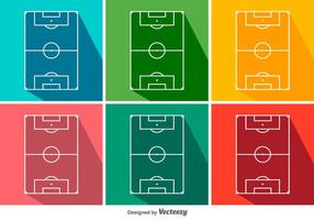 Football Ground Vector Icon Set