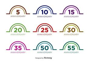 Anniversaire Vector Badges