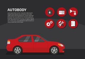 Servicio de carrocerías de automóviles vectorial libre