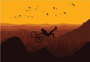 Bike Trail Evening Gratis Vector