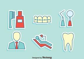 Tandarts Element Icons Vector