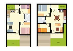 Thuis Plattegrond Vector