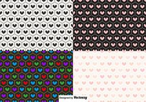 Patterns coeur Vector Seamless