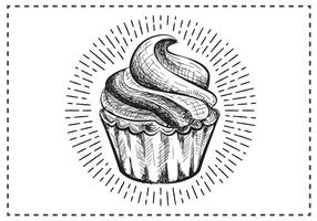 Free Hand Drawn Cupcake Background