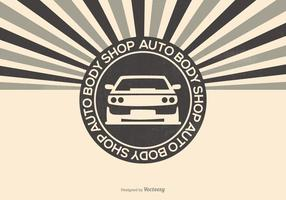 Auto Body Shop Illustration