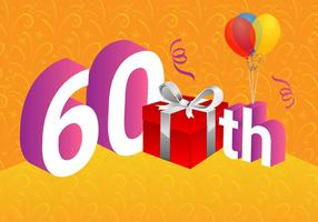 Free 60th Vector Illustration