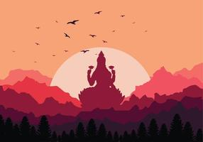 Lakshmi Sunset Free Vector
