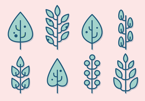 Minimalist Leaves Vector
