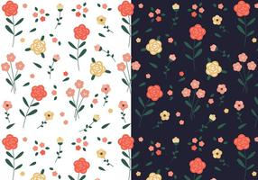 Libre del patrón floral de la vendimia