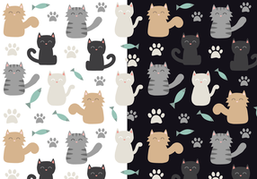 Gratis Cat Pattern Vector