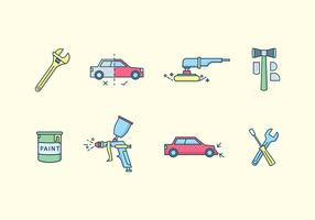 Auto Körper Reparatur Vektor