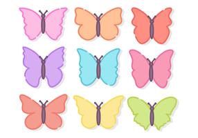 Free Minimalist Butterflies Vector