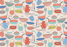 Cocina Motif Colorful Vector