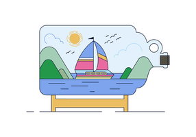Free Vector Bottled Boat