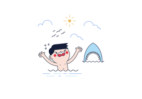 Gratis Shark Attack Vector