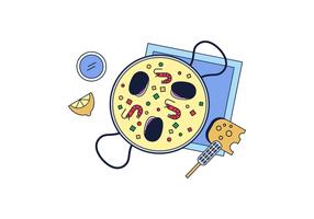 Vector libre Paella
