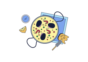 Freie Paella Vector