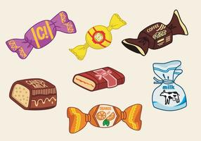 Toffee candy vector illustration