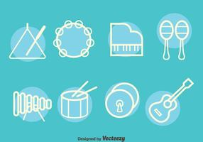 Nice Music Instrument Line Vector