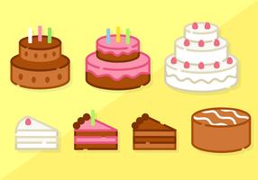 Gratis Minimalistische Cake Vector