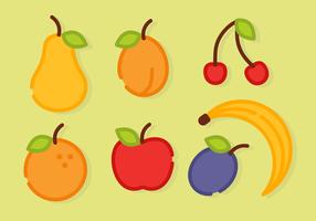 Fri Minimalist frukt vektor