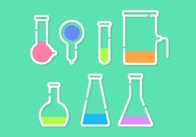 Vector libre minimalista Kit de productos químicos