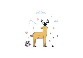 Vector libre de los ciervos