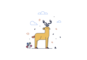 Vector livre cervos