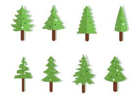 Vector libre Iconos de la Navidad del árbol