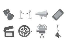 Theatre Icons Vector