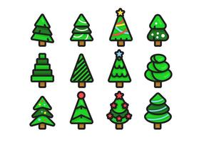 Pack de iconos de vector sapin