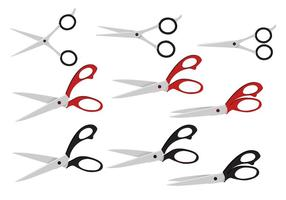 Realistic Scissors Vector Set