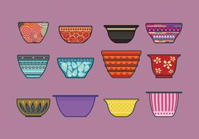 Vector Set of Mixing Bowls