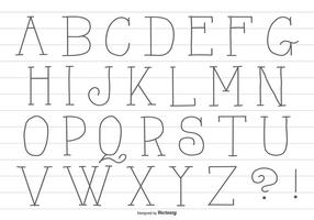 Main Mignon Drawn Alphabet
