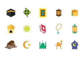Vector libre iconos islámicos