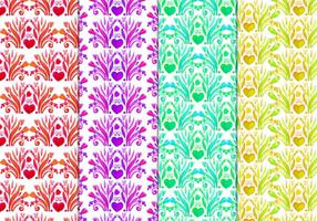 Free Vector Floral Pattern In Watercolor Style
