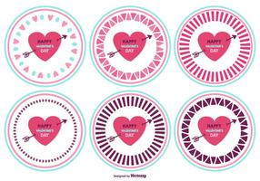 Cute Valentine's Day Badges