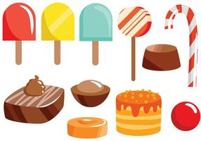 Fria sötsaker 2 Vektorer