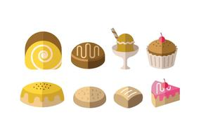 Desserts and other sweet meals vector