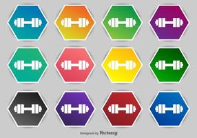 Dumbell iconos vectoriales
